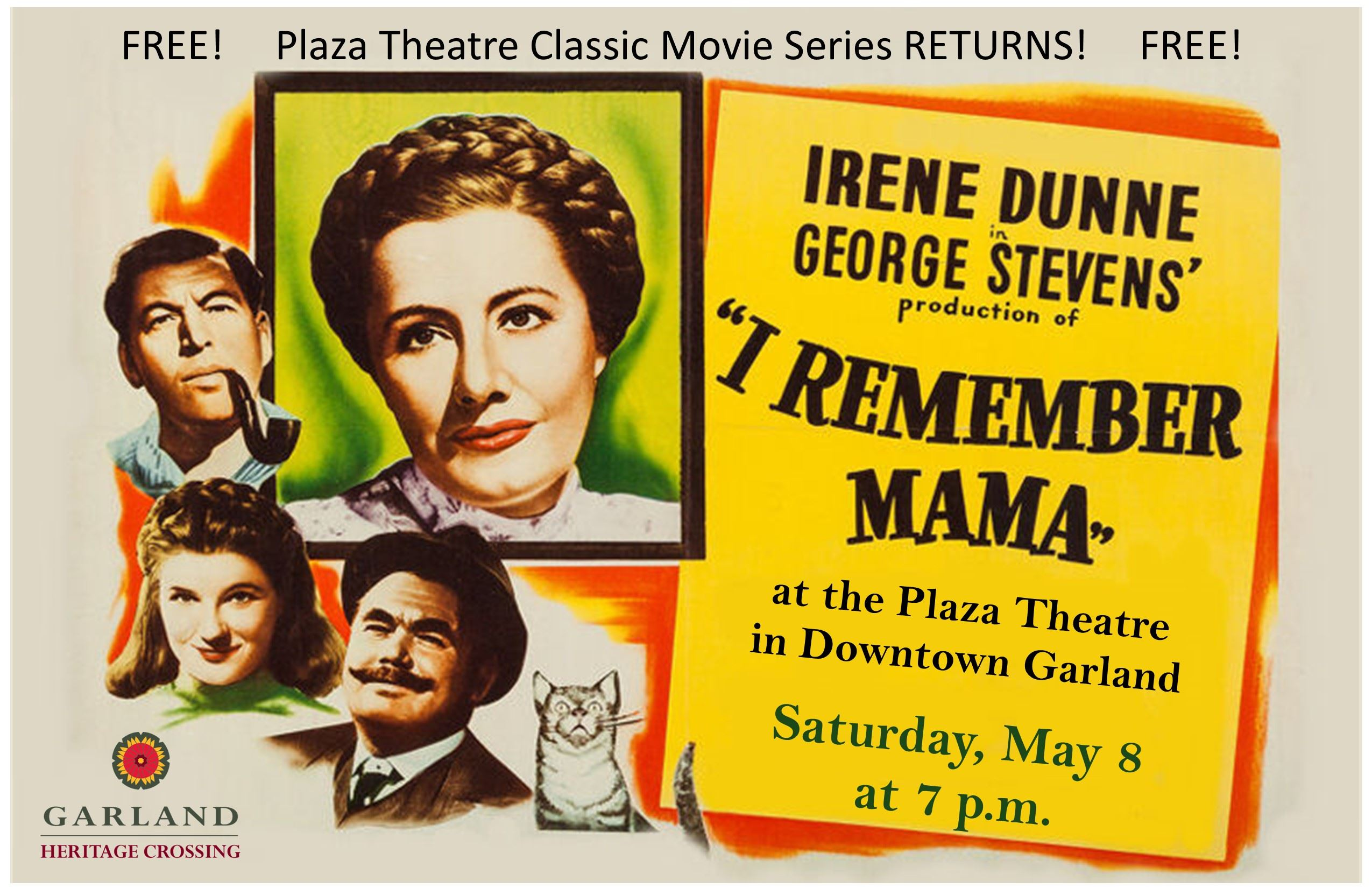 I Remember Mama, May 8 at 7 p.m. at the Plaza Theatre, Downtown Garland