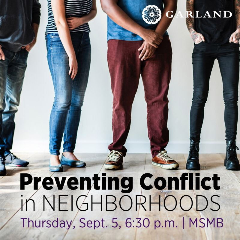 2019 Preventing Conflict in Neighborhoods Class, September 5, 6:30 p.m, MSMB